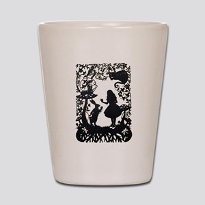 Alice in Wonderland Silhouette Shot Glass