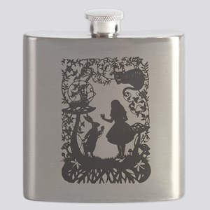 Alice in Wonderland Silhouette Flask
