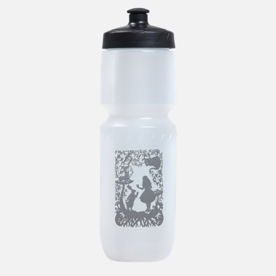 Alice in Wonderland Silhouette Sports Bottle