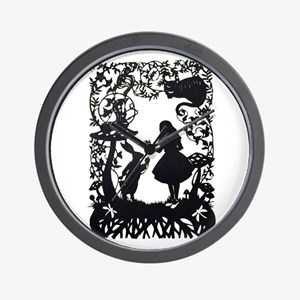 Alice in Wonderland Silhouette Wall Clock