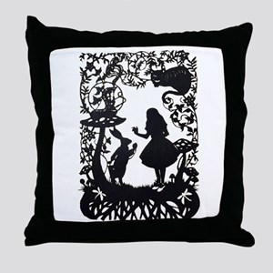 Alice in Wonderland Silhouette Throw Pillow