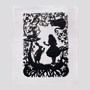 Alice in Wonderland Silhouette Throw Blanket