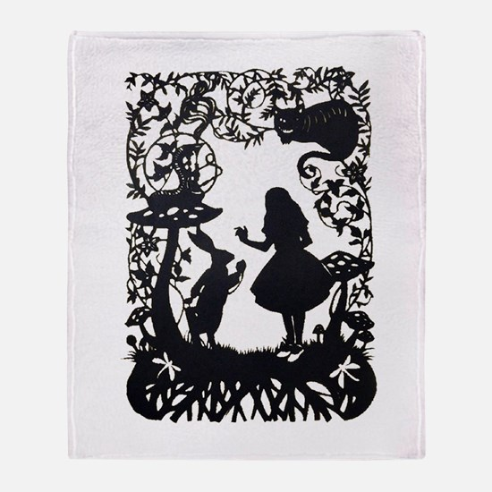 Alice in Wonderland Silhouette Throw Blanket