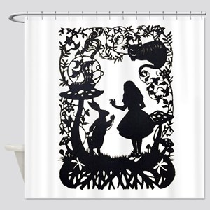 Alice in Wonderland Silhouette Shower Curtain