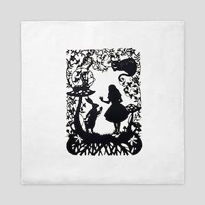 Alice in Wonderland Silhouette Queen Duvet