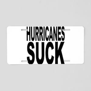 Hurricanes Suck Aluminum License Plate