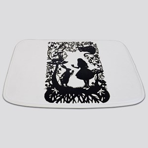 Alice in Wonderland Silhouette Bathmat