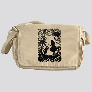 Alice in Wonderland Silhouette Messenger Bag
