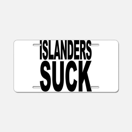 Islanders Suck Aluminum License Plate