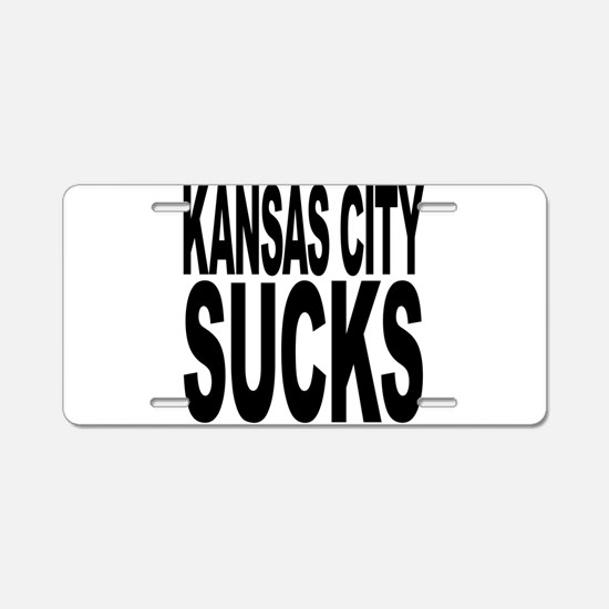 Kansas City Sucks Aluminum License Plate