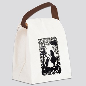 Alice in Wonderland Silhouette Canvas Lunch Bag