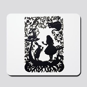 Alice in Wonderland Silhouette Mousepad