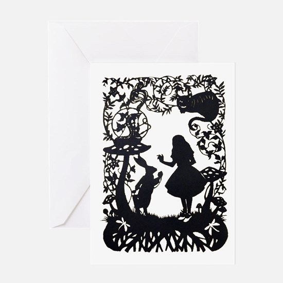 Alice in Wonderland Silhouette Greeting Card