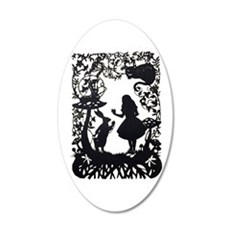 Alice in Wonderland Silhouet Wall Decal