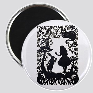 Alice in Wonderland Silhouette Magnet