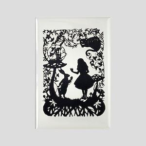Alice in Wonderland Silhouette Rectangle Magnet