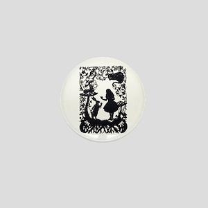Alice in Wonderland Silhouette Mini Button