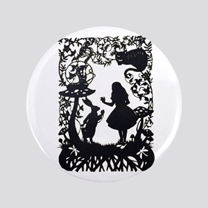 Alice in Wonderland Silhouette Button
