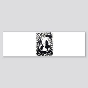 Alice in Wonderland Silhouette Sticker (Bumper)