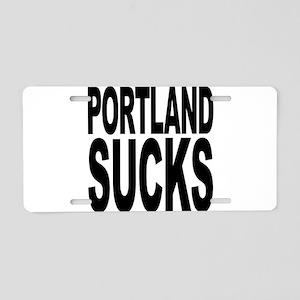 Portland Sucks Aluminum License Plate