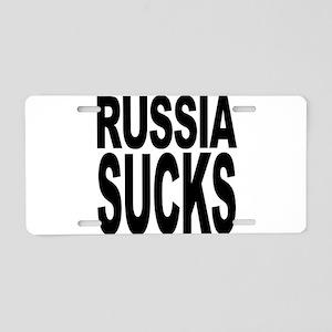 Russia Sucks Aluminum License Plate