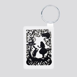 Alice in Wonderland Silhou Aluminum Photo Keychain