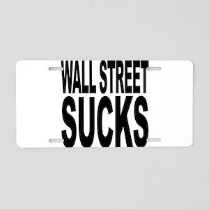 Wall Street Sucks Aluminum License Plate