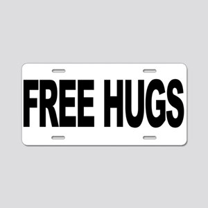 Free Hugs (L) Aluminum License Plate