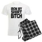 Iron My Shirt Bitch Men's Light Pajamas