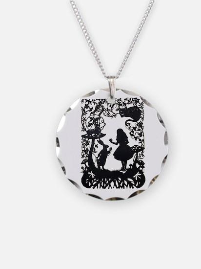 Alice in Wonderland Silhouet Necklace
