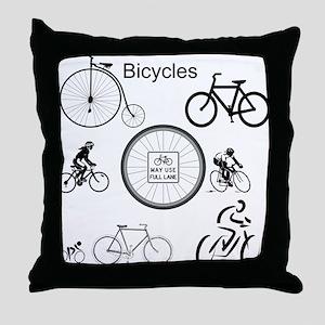 Bicycles May Use Full Lane Throw Pillow