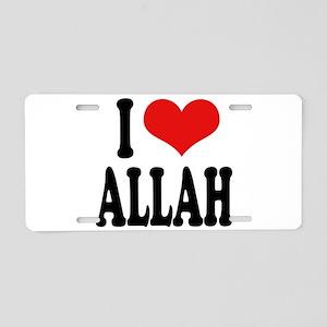 I Love Allah Aluminum License Plate