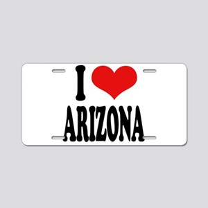 I Love Arizona Aluminum License Plate