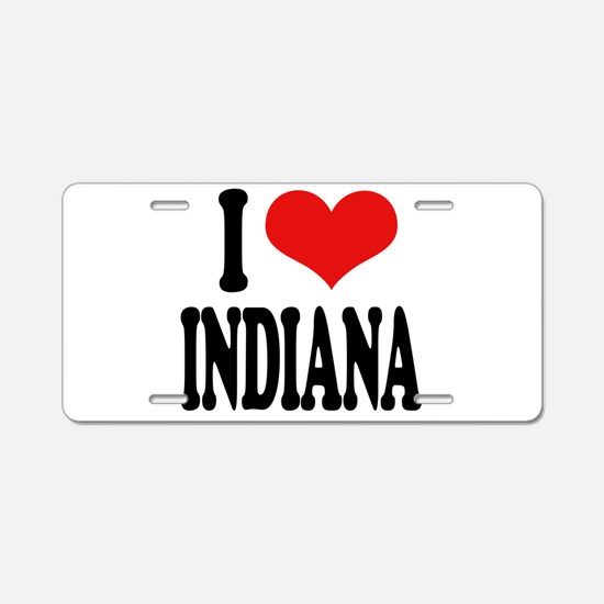 I Love Indiana Aluminum License Plate