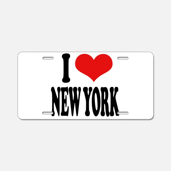 I * New York Aluminum License Plate