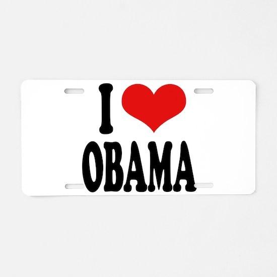 I Love Obama Aluminum License Plate