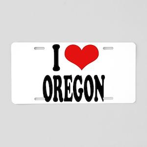 I Love Oregon Aluminum License Plate