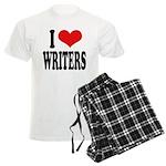 I Love Writers Men's Light Pajamas