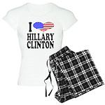 I Love Hillary Clinton Women's Light Pajamas