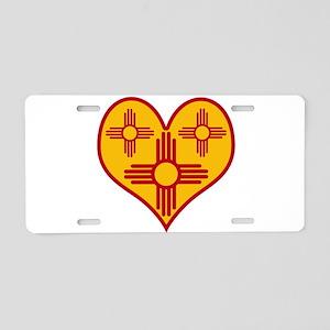 New Mexico Zia Heart Aluminum License Plate