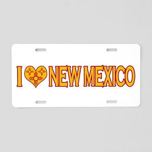I Love New Mexico Aluminum License Plate