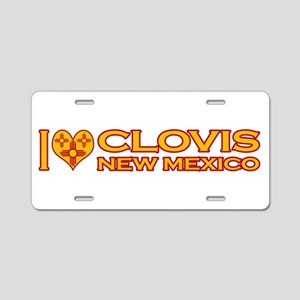 I Love Clovis, NM Aluminum License Plate