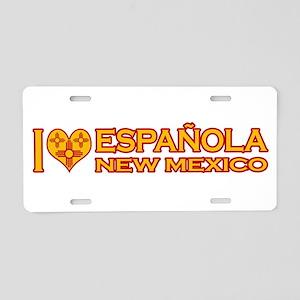 I Love Espanola, NM Aluminum License Plate