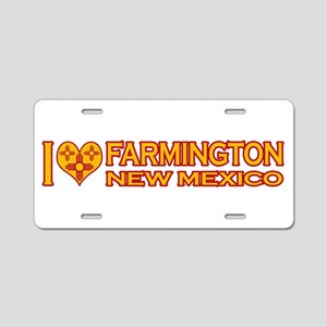 I Love Farmington, NM Aluminum License Plate