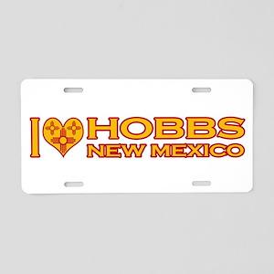 I Love Hobbs, NM Aluminum License Plate