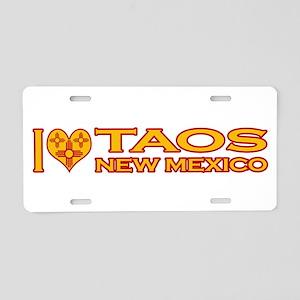 I Love Taos, NM Aluminum License Plate