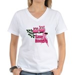 Save the Hooters Women's V-Neck T-Shirt