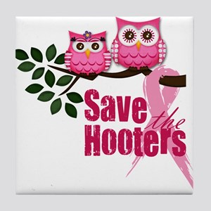 Save the Hooters Tile Coaster