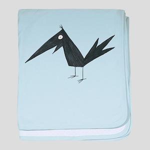 Cute Crow baby blanket