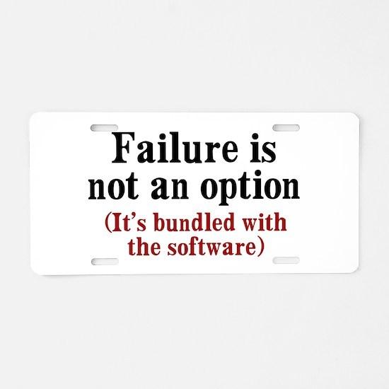 Software Failure Aluminum License Plate